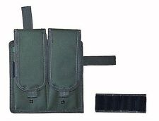 OD Green Double Magazine Clip Pouch m4/m16/ak47/g36 Velcro BB Airsoft 2 Mag 247G