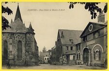 cpa Très Rare 02 - VERVINS (Aisne) La Place SOHIER ÉGLISE MAISON d'ARRÊT PRISON