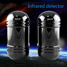 Alarm Dual Beam Photoelectric Infrared Detector 100M Home & Garden Security LE