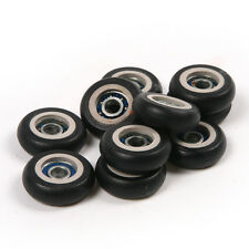20pcs R Model 5x23x7.5mm Plastic Coated Pulley Tire Wheel Arc Ball Bearing