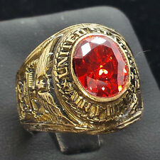 United States Air Force Red Stone 10k Gold Filled Class Ring 14g Sz.11.5