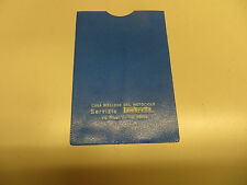 LAMBRETTA ORIGINAL ITALIAN  DEALER DOCUMENT POUCH NOS IN BLUE  TV200 SX200