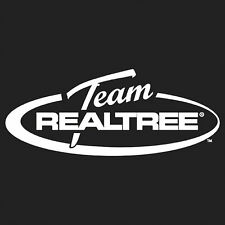 TEAM REALTREE - OFFICIAL LOGO WITH OVAL - WHITE HUNTING WINDOW DECAL STICKER