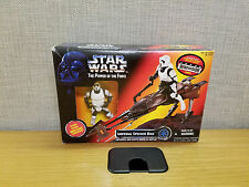 Kenner Star Wars Power of the Force Imperial Speeder Bike with Biker Scout, New!
