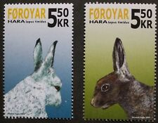Faroese snow hare stamps, Faroe Islands 2005, SG ref: 475 & 476, 2 stamp set MNH