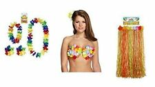 6 pcs hawaïen tropical robe fantaisie set hula jupe collier 2PCS bracelets soutien-gorge