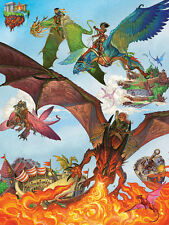 Jigsaw Puzzle Fantasy Dragon Flight 400 multi-sized pieces NEW Made in USA