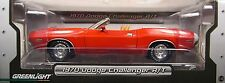 GREENLIGHT 1:18 SCALE DIECAST METAL RED 1970 DODGE CHALLENGER R/T CONVERTIBLE