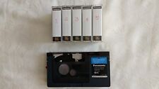 Panasonic VHS-C To VHS Adapter  and five VHS-C tapes