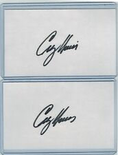 (2) GREG A HARRIS INDEX CARD SIGNED 1981-95 REDS RED SOX PSA/DNA CERTIFIED
