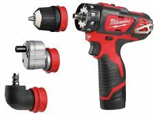 Milwaukee M12BDDXKIT-202C 12v 4 in 1 Removable Chuck Drill Driver 2 x 2.0ah New