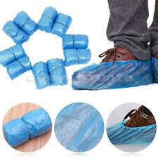 100x Disposable Plastic Shoe Covers Waterproof Rain Boot Carpet Clean Overshoes