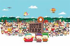 SOUTH PARK ~ SKYLINE CAST 24x36 CARTOON POSTER Matt Parker Trey Stone Southpark