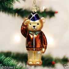 *Air Force Bear* Military Plane [12401] Old World Christmas Glass Ornament - NEW