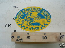 STICKER,DECAL MOTOCROSS EK ZIJSPANNEN 1977 VALKENSWAARD NOT 100 % OK