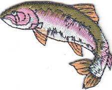 RAINBOW TROUT (LEFT) - FISHING - FRESHWATER FISH/Iron On Embroidered Patch