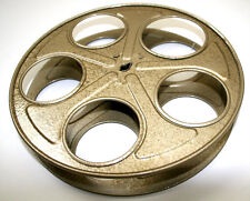 "35mm film reel movie media HOLLYWOOD OSCAR prop decor metal VTG GUN GOLD 10"" Old"