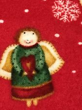 Fabric Angels Christmas on Red Flannel by the 1/4 yard BIN