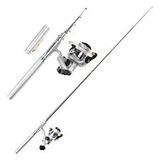 Fishing Tackle Pocket Pen Kit Rod Polel and Spin Reel Combos Wheel Tool Mini US