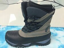 RANGER WOMENS WINTER SNOW BOOTS DUPONT THERMALITE SZ 8M BLACK/BROW SUEDE LEATHER