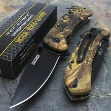 """8"""" TAC FORCE EDC FALL CAMO SPRING ASSISTED TACTICAL POCKET KNIFE Blade Assist"""