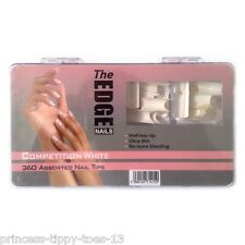 The Edge Nails competition white 360 assorted nail tips