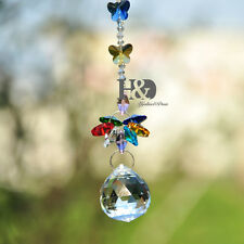 Clear Ball Crystal Suncatcher Pendant Prisms Hanging Drop Home Window Decor Gift
