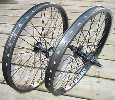"Wheel Set 20"" BMX Park Front 3/8 & 9T 14mm 3/8 Slotted Rear Double Walled Rims"