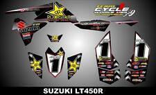 SUZUKI LTR 450 QUADRACER  SEMI CUSTOM GRAPHICS KIT MAIKY