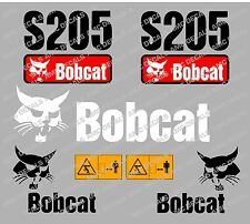 BOBCAT S205 SET DI ADESIVI DECAL DI SKID STEER