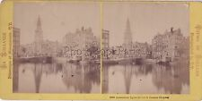Amsterdam Holland Pays-Bas Photo Stereo Vintage albumine ca 1870