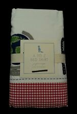 Pottery Barn Kids  A TO Z Crib Toddler Bed Skirt New In Package Red Gingham