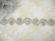 Vintage Crystal Wedding Belt Rhinestone Bridal Sash Accessory Any Colour Ribbon