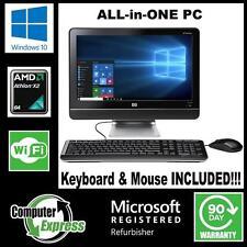 "HP All-in-One PC Windows 10 18.5"" Dual Core 4GB 250GB WIFI Webcam DVDRW [56]"