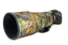 Nikon 300mm f2.8 AFS II  neoprene lens protection camouflage cover English Oak