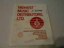 2000 MIDWEST MUSIC  musical instrument catalog w/price list