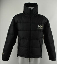 Mens Helly Hansen Double Face Duck Down Feather Padded Jacket Black Coat Size XS