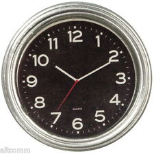 """Dollhouse Miniature Clock Black Face White Numbers 1½""""D  Hands 1:12 Scale New"""