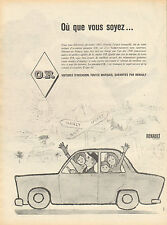 Publicité Advertising 1960  RENAULT voitures d'occasions garanties O.R.  .....