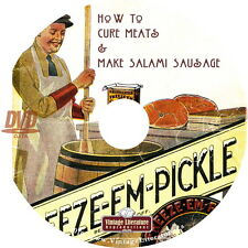 How To Cure Meats ~ Make Salami and Sausage { 1922 Book } on DVD