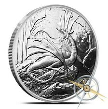 Nordic Creatures Series The Dragon - The World Tree 1 oz .999 Silver Proof Round