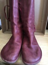 Campers Women Size 39  US 8,5 M Mid Calf Boots Red Distressed Leather