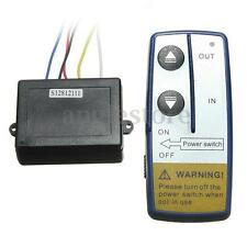 12V DC Electric Winch Wireless Remote Control System Kit for Truck Jeep ATV SUV