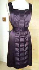Elegant Phase Eight Plum Silk Folds Dress UK Size 12 NWT