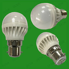1x 5W B22 Daylight White 6500K BC Mini Globe Golf Ball LED Light Bulb Lamp 400lm