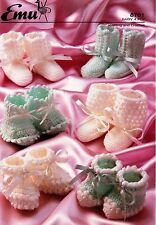 BABIES~BOOTEES~SOCKS ~SHOES~4 PLY~ KNITTING AND CROCHET PATTERN~T125)