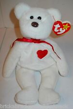 "TY BEANIE BABIES ""VALENTINO BEAR"" W/DATE & TAG ERRORS, SWEET, PRE-LOVED W/TAGS!"