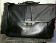 Vintage lockable Leather padded Doctors bag Laptop briefcase satchel Gladstone