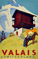 246 Vintage Travel Poster Art Valais Switzerland  *FREE POSTERS