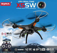 Syma X5SW WIFI FPV 2.4Ghz 4CH 6-Axis RC Quadcopter Drone 2MP Camera HD Black RTF